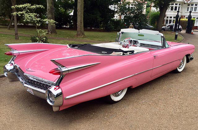 1959 Pink Cadillac Convertible | American Wedding Cars