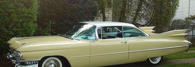 1959 Lemon Yellow Cadillac Coupe