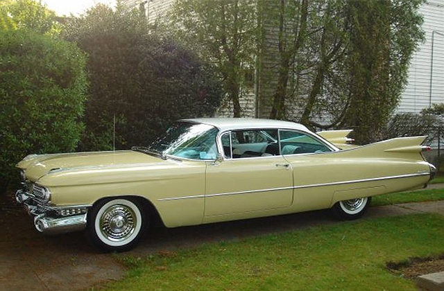 1959 Lemon Yellow Cadillac Coupe