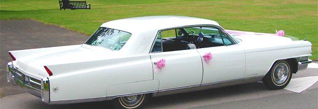 1963 White Cadillac Fleetwood