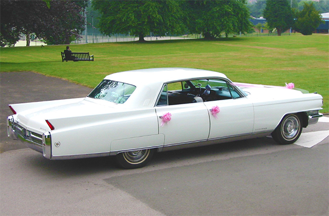 1963 White Cadillac Fleetwood