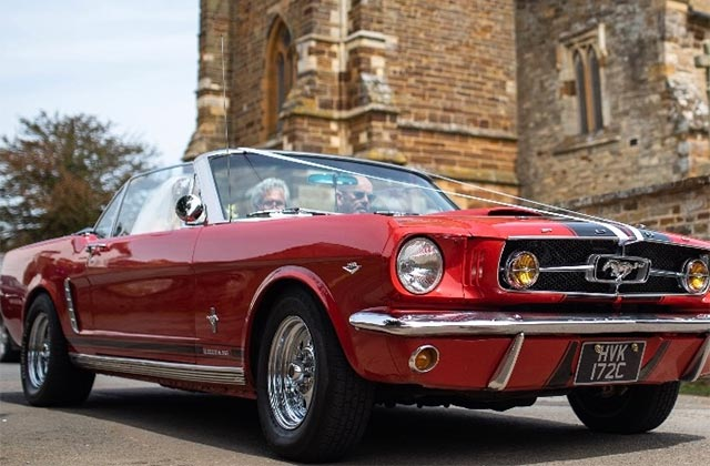 1963 Red Mustang Convertible