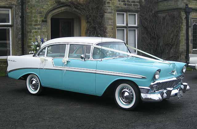 1956 Chevrolet Bel Air American Wedding Cars